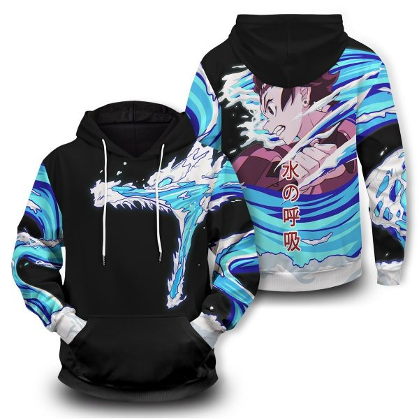 Tanjiro Water Style Unisex Pullover Hoodie Official Demon Slayer Merch