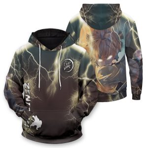Thunderclap Flash Style Unisex Pullover Hoodie Official Demon Slayer Merch