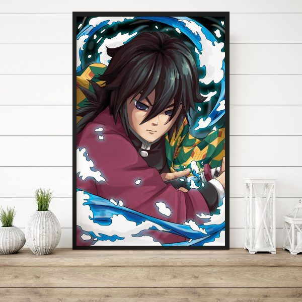 Water Breathing 3D Transition Canvas Official Demon Slayer Merch