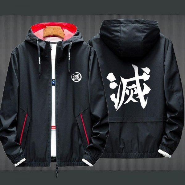Black, Red Collar and thin Jacket / L Official Demon Slayer Merch