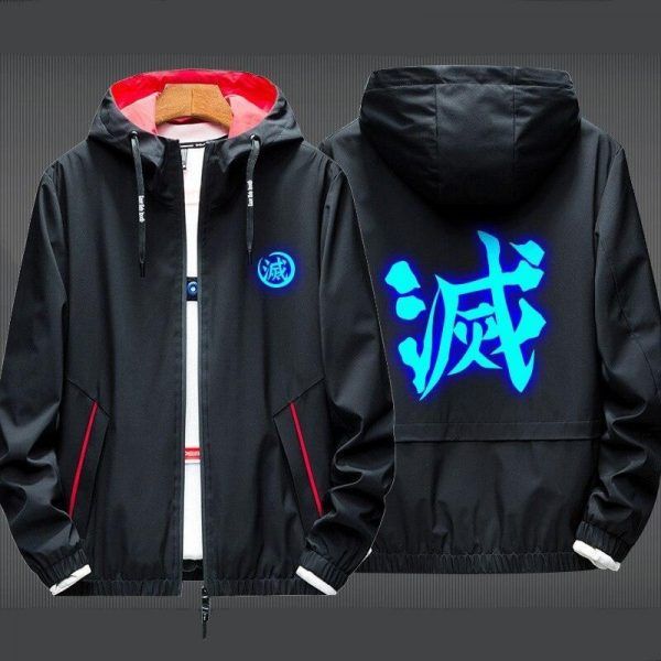 Black, Red Collar and thin Jacket / XL Official Demon Slayer Merch