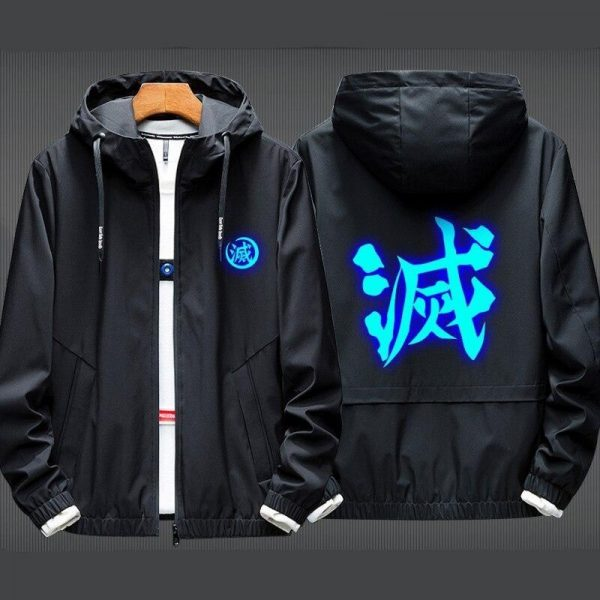Black, Red Collar and thin Jacket / XXL Official Demon Slayer Merch