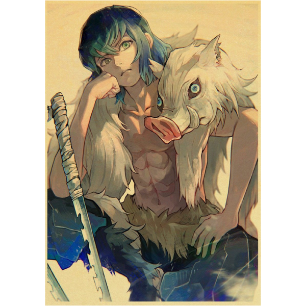 Demon Slayer Poster  Inosuke Without Mask 30X21cm Official Demon Slayer Merch