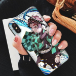 Demon Slayer iPhone Case  Tanjiro Water Breathing For iphone 5 5s SE Official Demon Slayer Merch